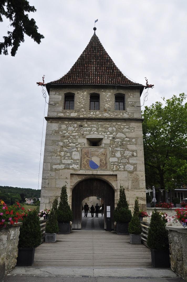 Entrada del castell de Laufen de Rheinfall
