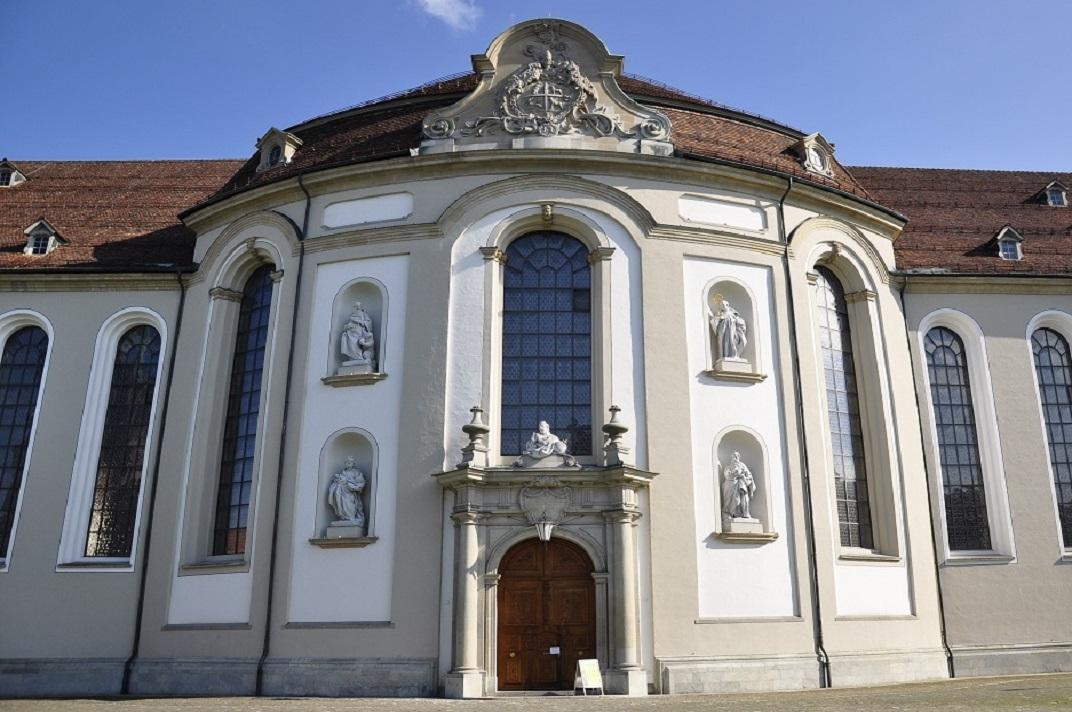 Entrada principal de la Catedral de Sankt Gallen
