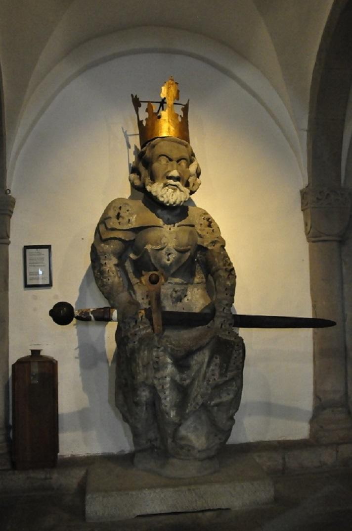 Escultura de Carlemany de la Grossmünter de Zuric