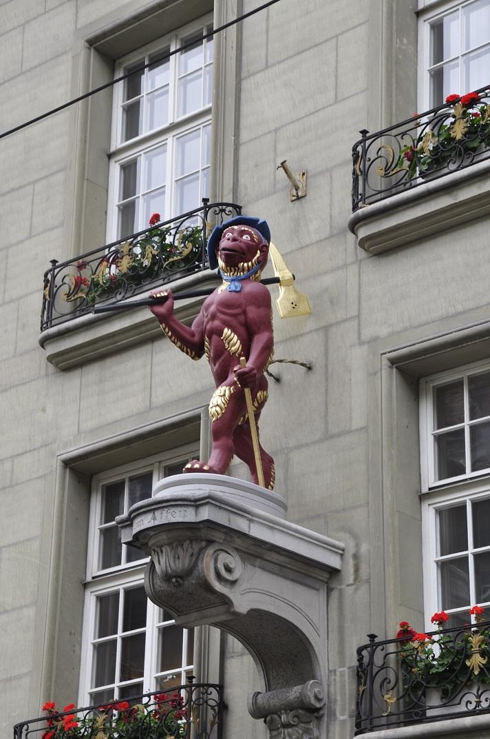 Escultura de la casa del gremi dels picapedrers de Berna