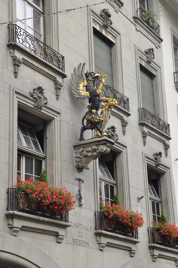 Escultura de la casa del gremi dels teixidors de Berna