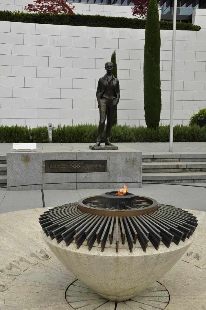 Escultura de Pierre de Coubertin del Museu Olímpic de Lausana