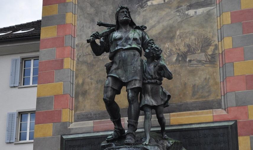 Escultura de Wilhelm Tell