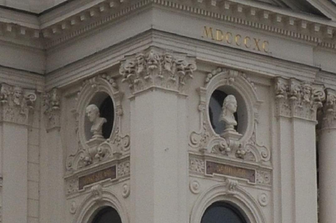 Escultures de Shakespeare i Schiller de l'Òpera de Zuric