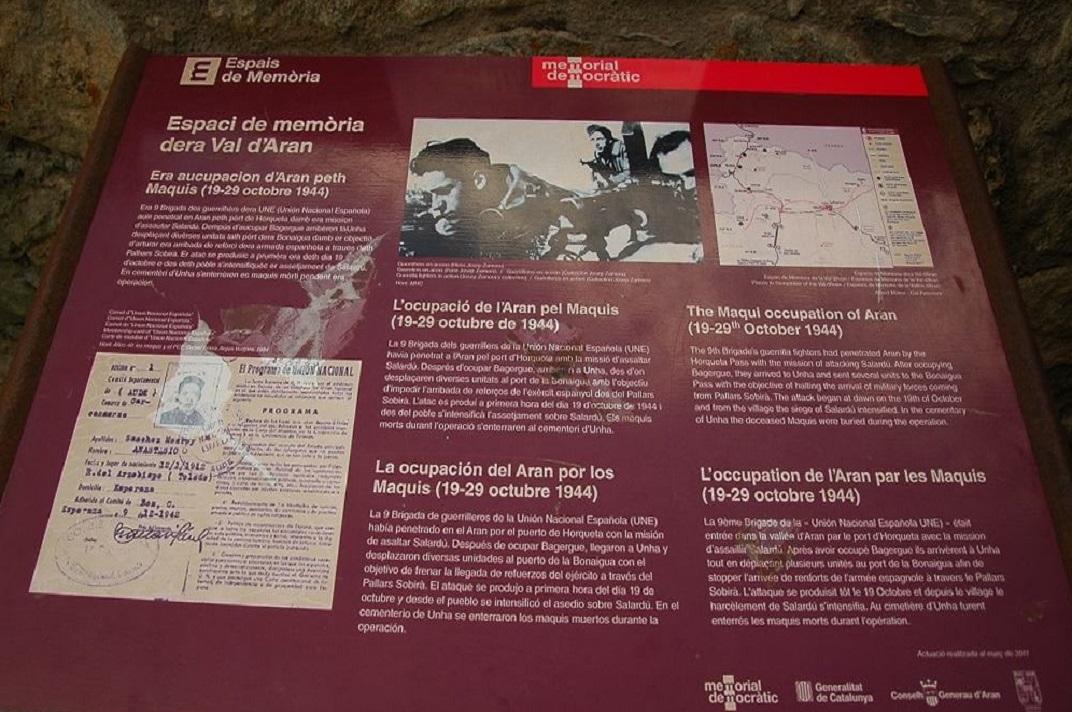 Espais de memòria de la Val d'Aran - Unha