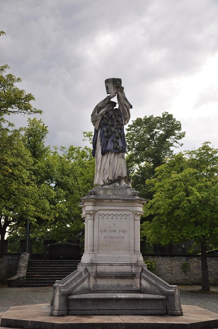 Estàtua de Guillaume Farel de la col·legiata de Neuchâtel