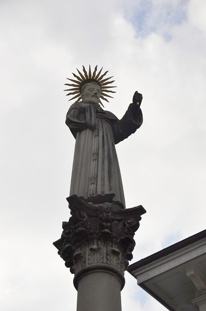 Estàtua de Sant Francesc d'Assís de l'església franciscana de Lucerna