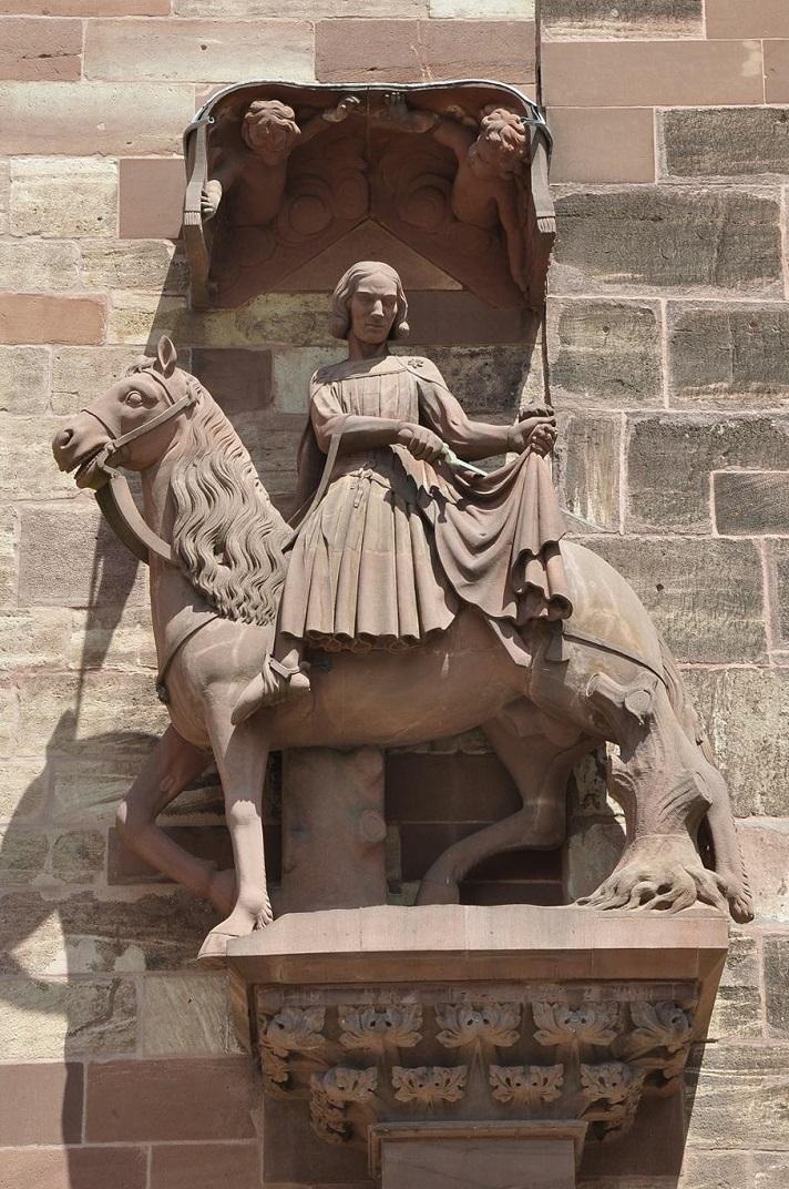 Estàtues de Sant Martí de la façana de la Catedral de Basilea