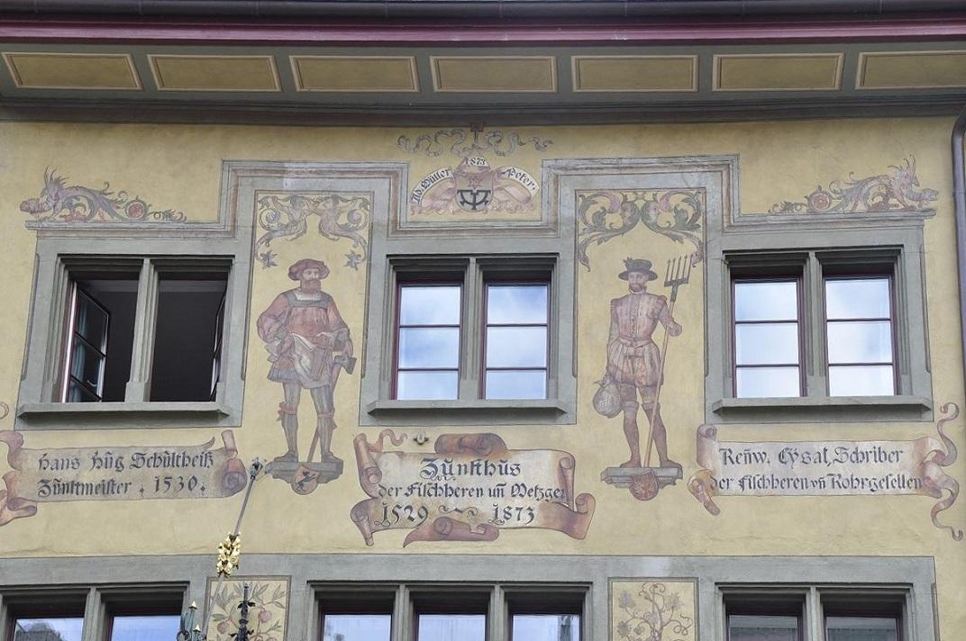 Façana de la casa gremial dels carnissers de Lucerna