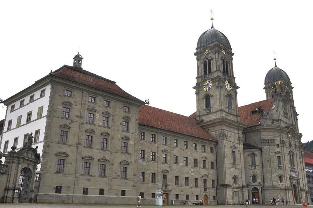 Façana de la Col·legiata d'Einsiedeln