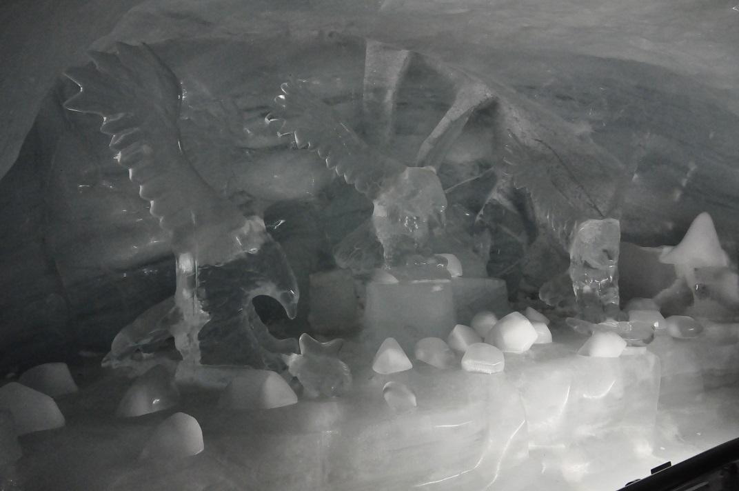 Figures del palau de gel de Jungfraujoch