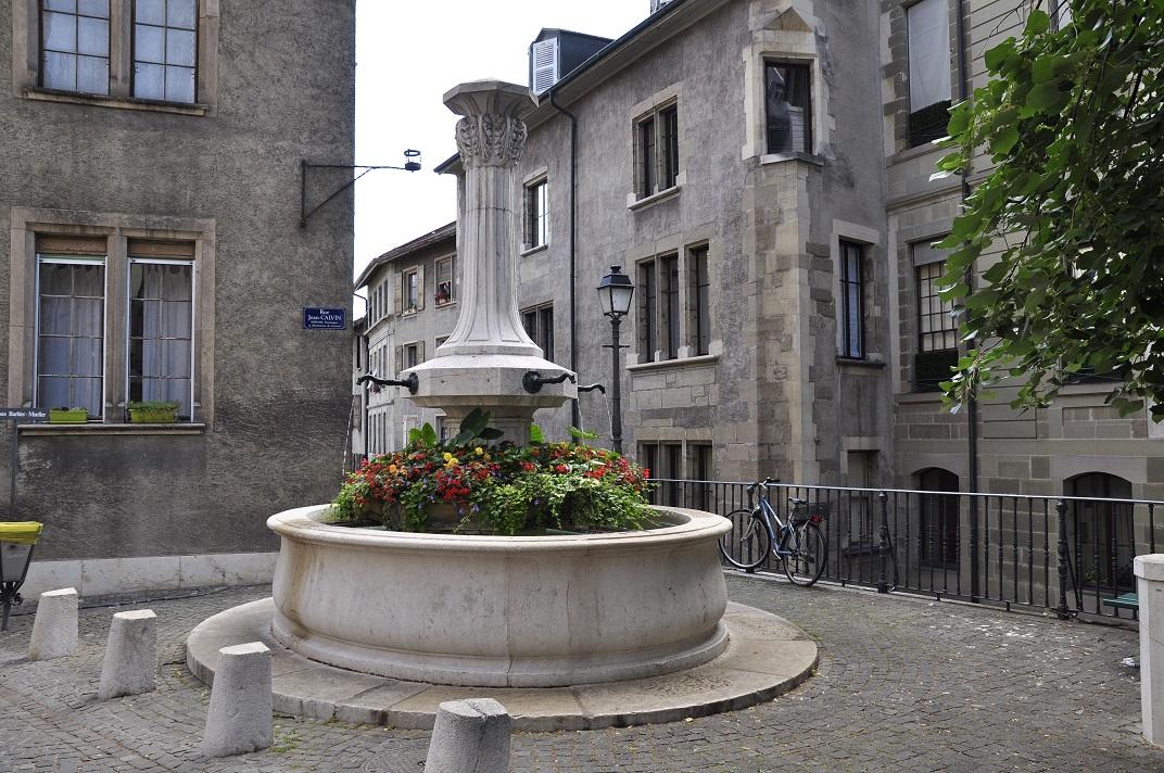 Font de la plaça Jean Cauvin de Ginebra