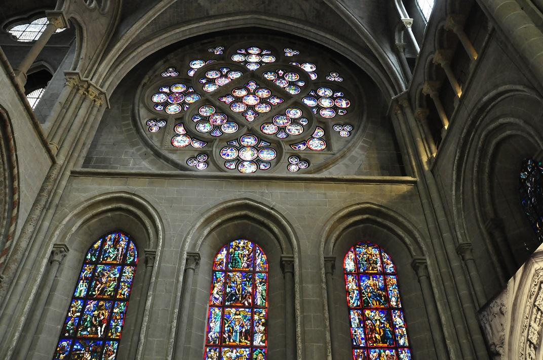 Interior de la rosassa de la Catedral de Lausana