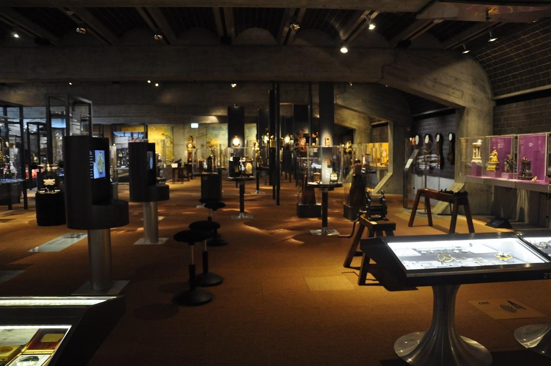Interior del museu de rellotgeria de La Chaud-de-Fonds
