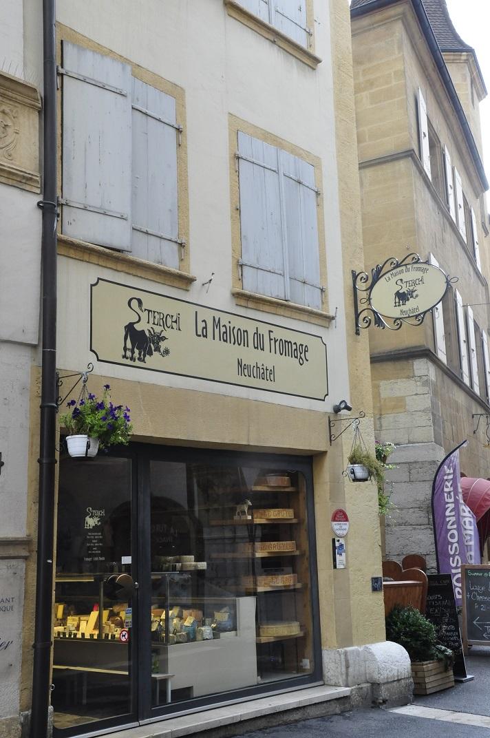 La casa del formatge del nucli antic de Neuchâtel