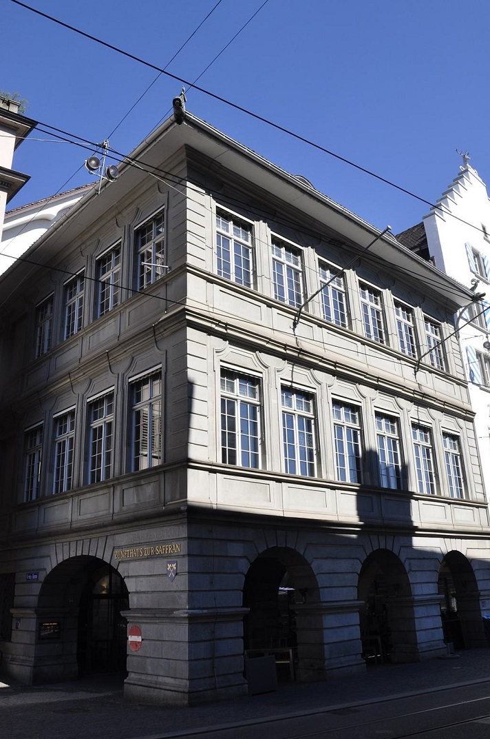 La casa gremial Haus zur Saffran de Zuric