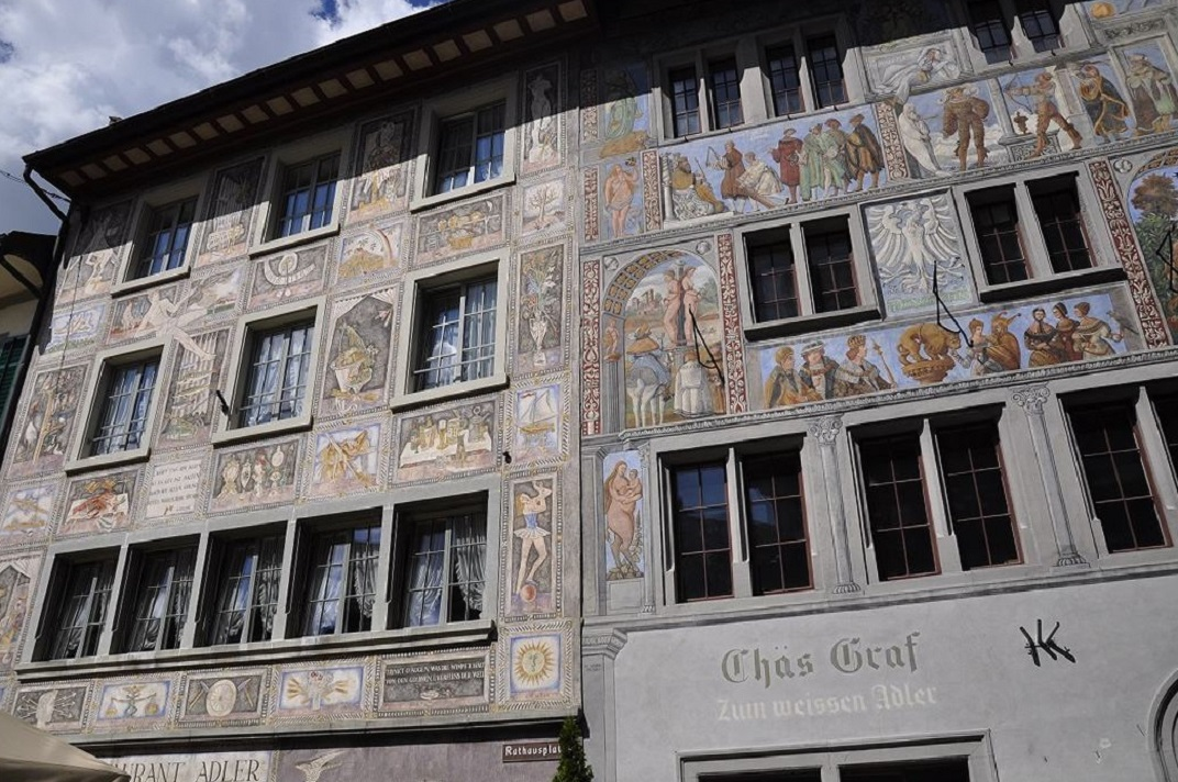 La casa Weisser Adler de Stein-am-Rhein