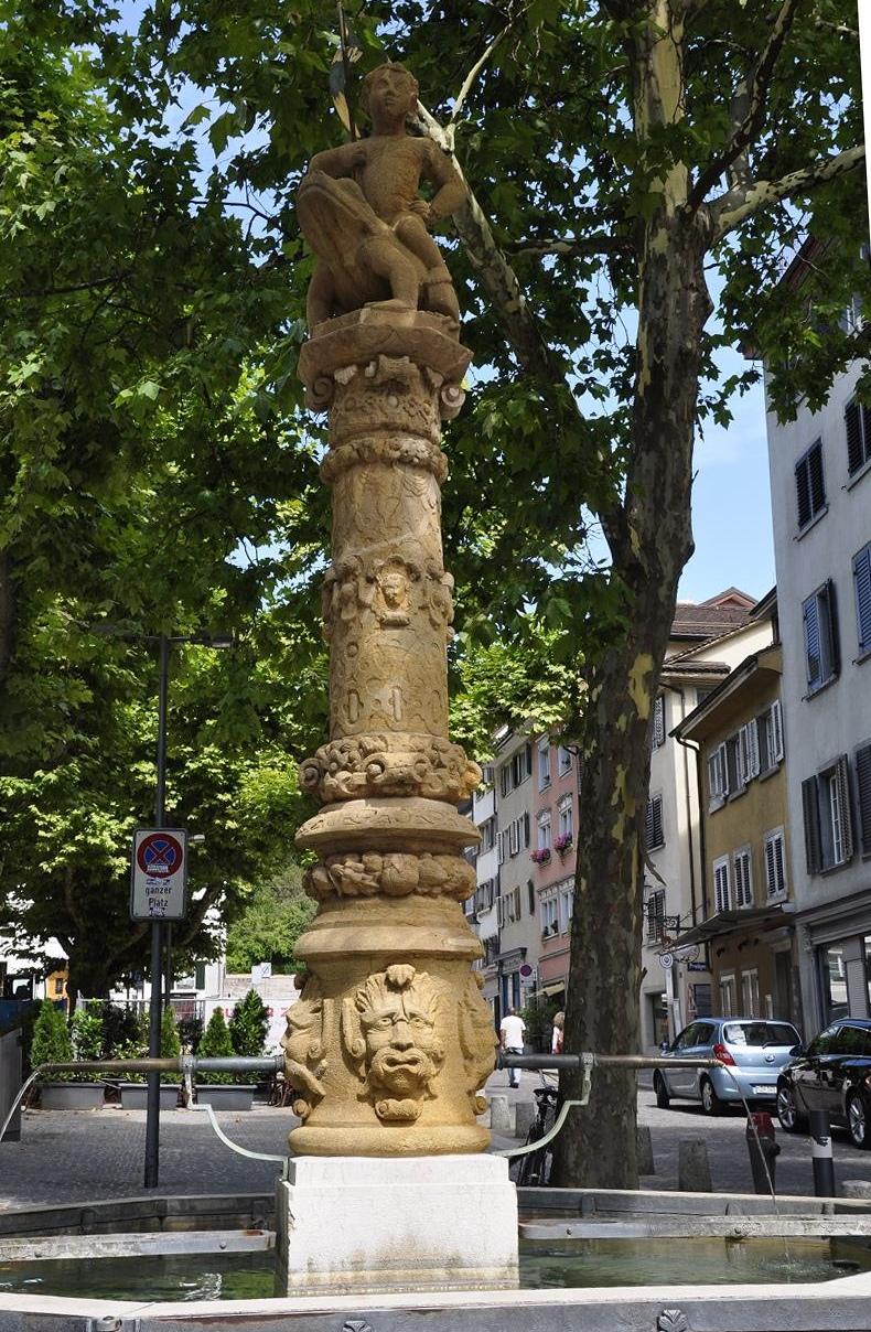 La font Froschauerbrunnen del barri de Niederdorf de Zuric