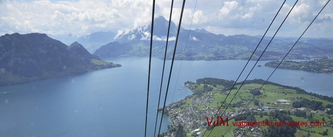 Llac del Quatre Cantons des de la muntanya Rigi