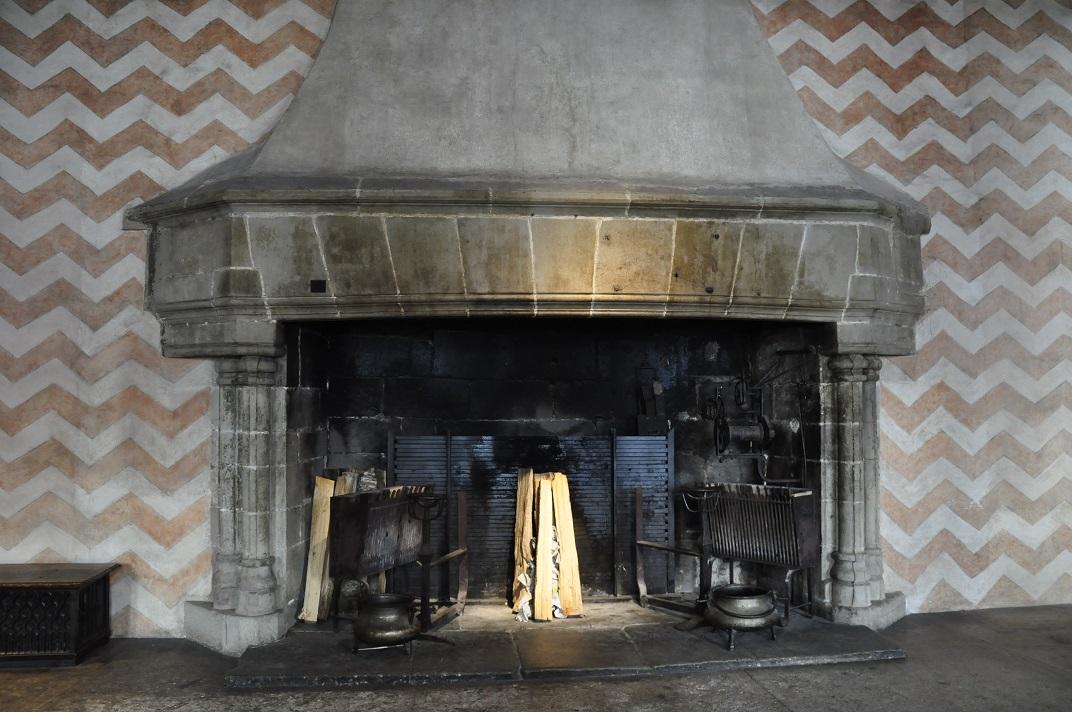 Llar de foc de l'Aula Nova del castell de Chillon