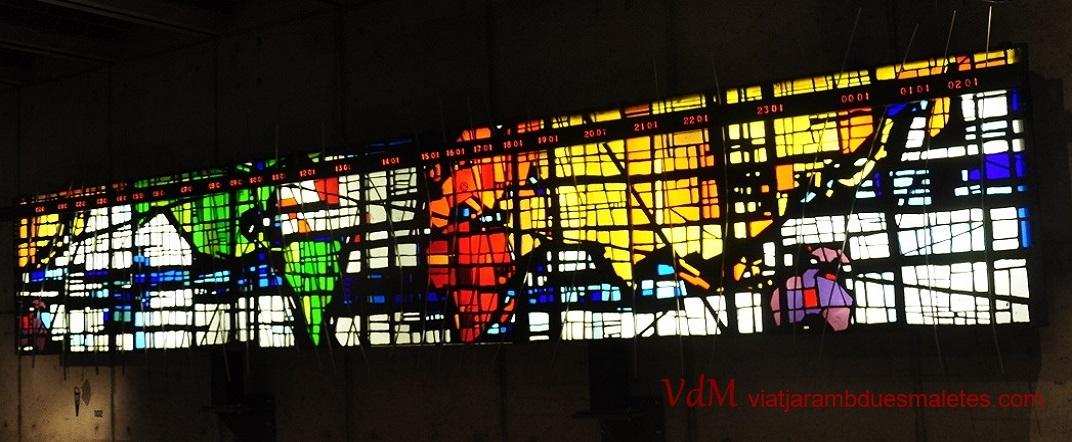 Mapa horari del món del museu de rellotgeria de La Chaud-de-Fonds