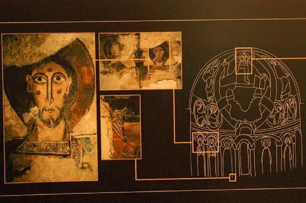 Maqueta de l'absis de l'església de Santa Eulàlia d'Unha