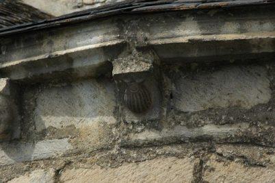 Mènsula de petxina de la capçalera de l'església de Sant Andreu de Salardú