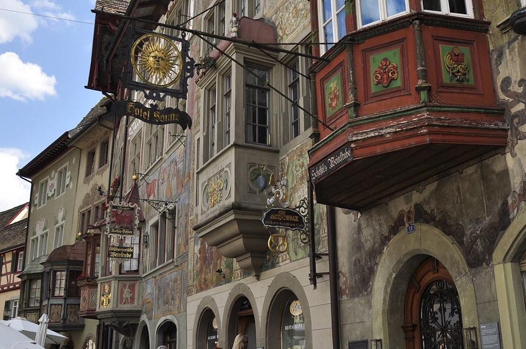 Miradors del carrer principal de Stein-am-Rhein