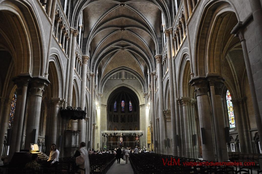 Nau central de la Catedral de Nostra Senyora de Lausana