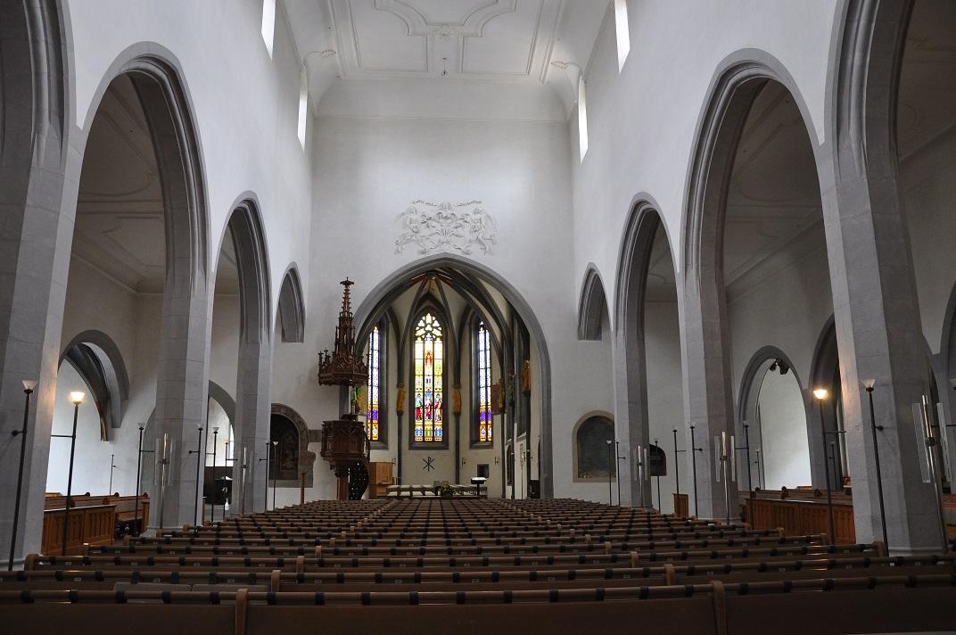 Nau central de l'església de Sant Joan de Schaffhausen