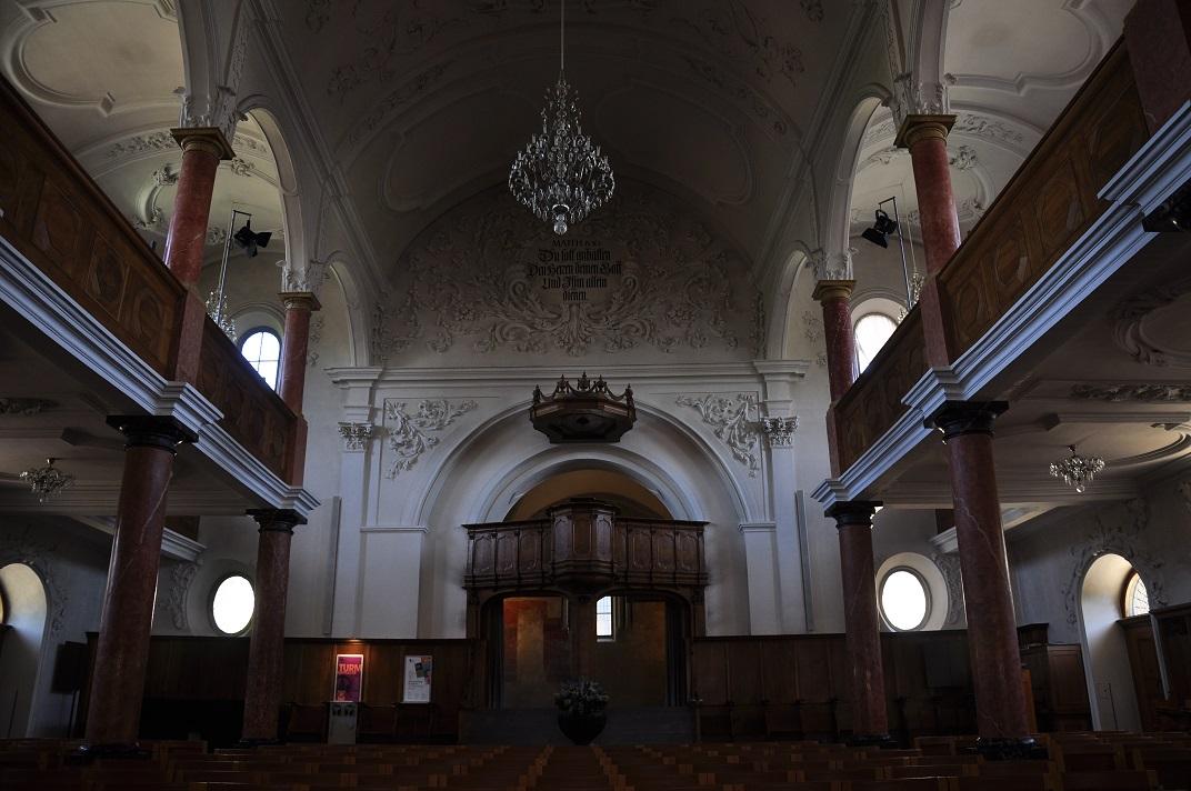 Nau de l'església de Sant Pere de Zuric