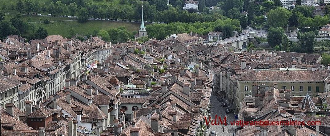 Nucli antic des de la torre de la Catedral de Berna