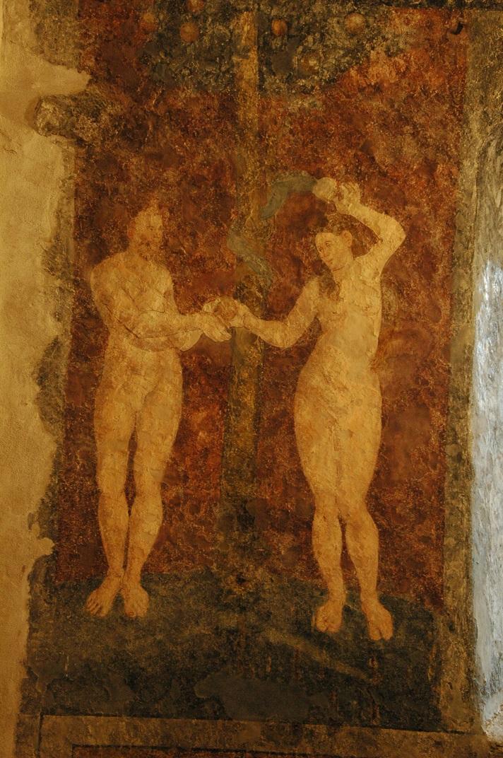 Pintures murals de Adam i Eva de l'església de Santa Eulàlia d'Unha