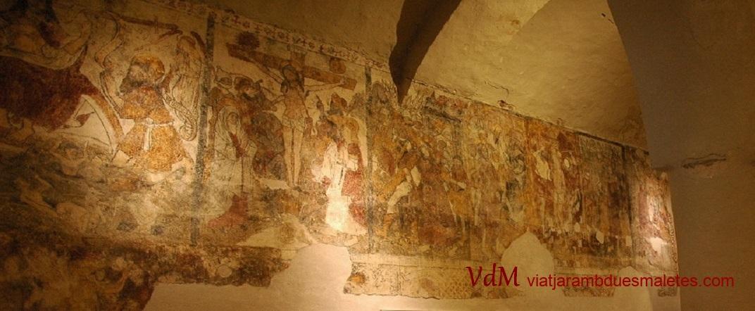 Pintures murals de la Passió de Crist de l'església de Santa Eulàlia d'Unha