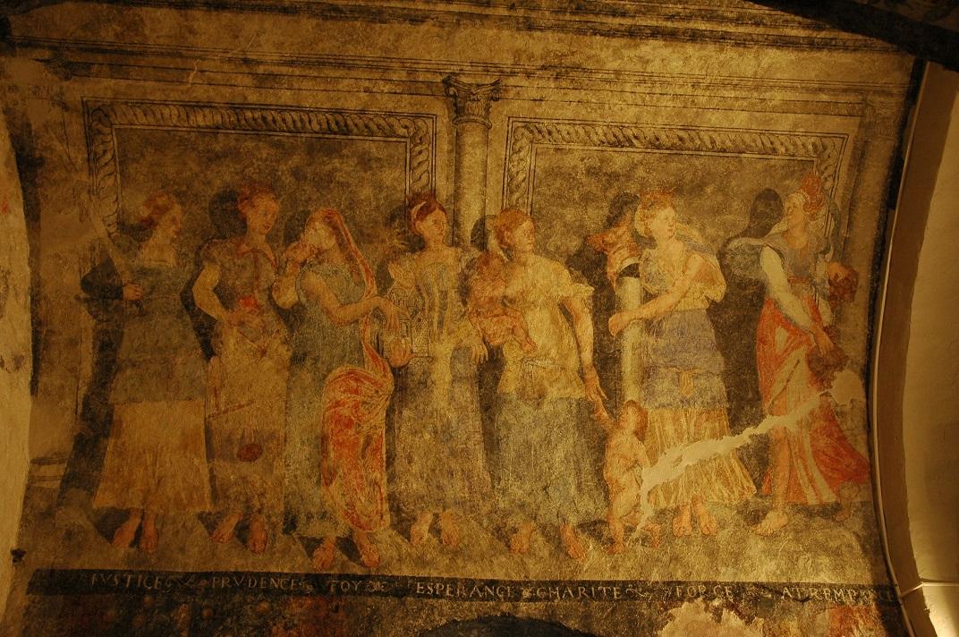 Pintures murals de les virtuts de l'església de Santa Eulàlia d'Unha