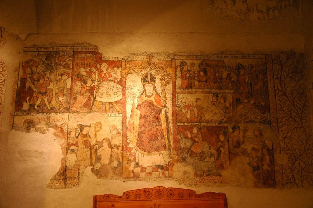 Pintures murals de Sant Germà d'Auxerre de l'església de Santa Eulàlia d'Unha