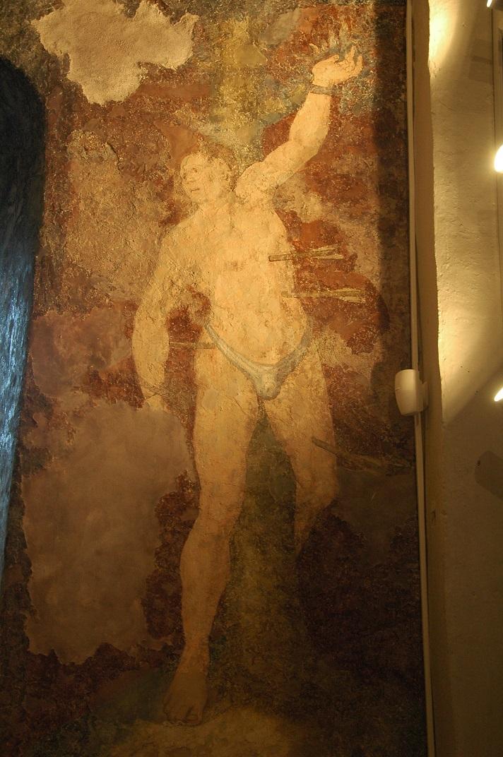 Pintures murals de Sant Sebastià de l'església de Santa Eulàlia d'Unha