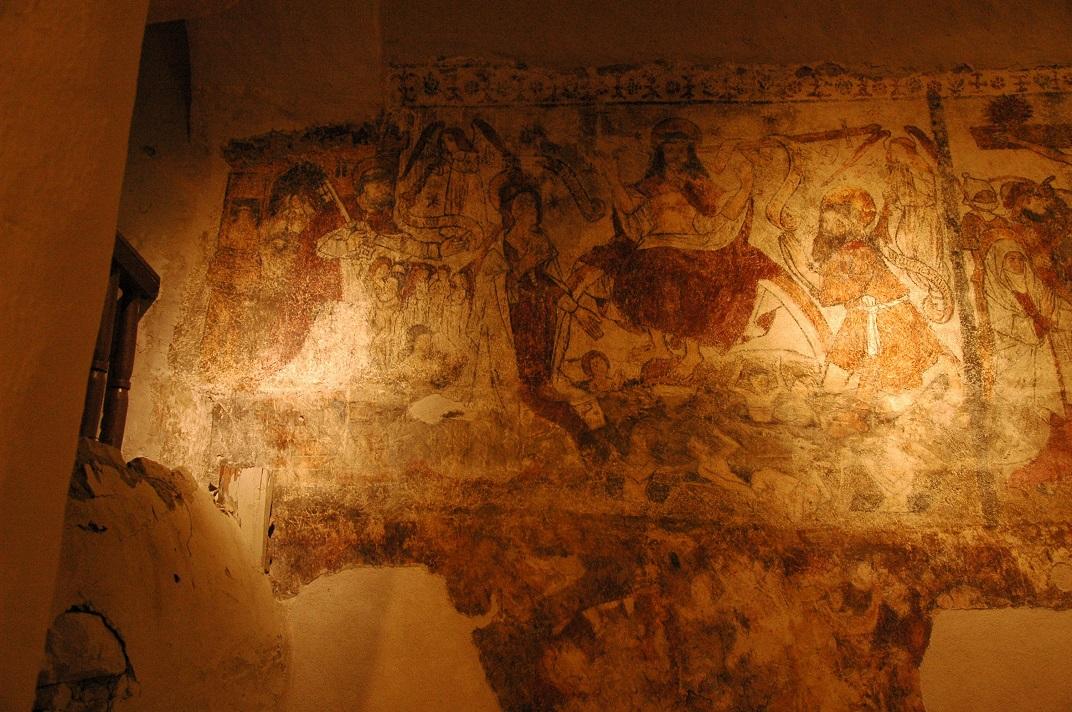 Pintures murals del Judici Final de l'església de Santa Eulàlia d'Unha