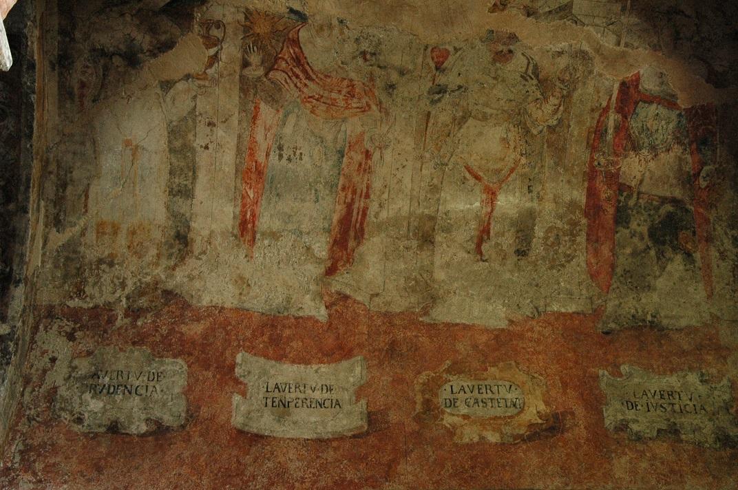 Pintures renaixentistes de les virtuts cardinals de l'església de Sant Andreu de Salardú