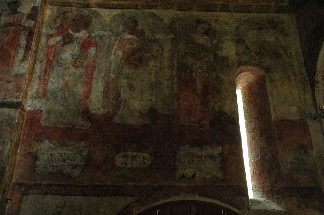 Pintures renaixentistes de les virtuts teologals de l'església de Sant Andreu de Salardú