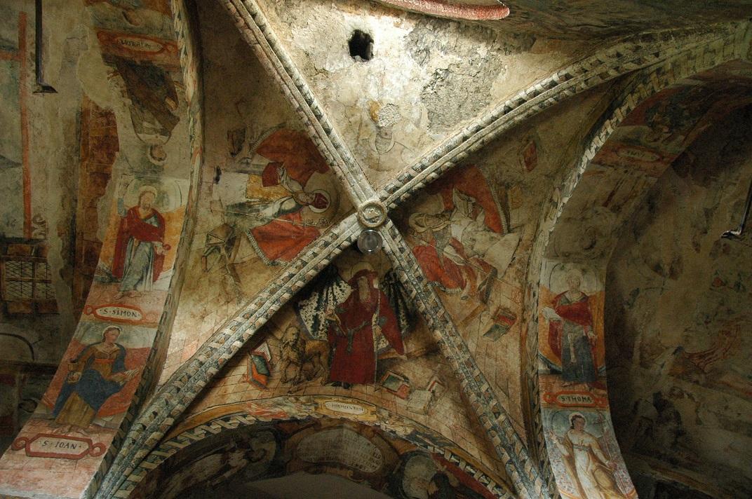 Pintures renaixentistes del sostre de la nau de l'església de Sant Andreu de Salardú