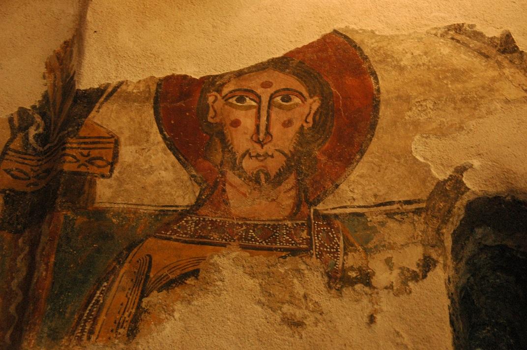 Pintures romàniques de l'absis de l'església de Santa Eulàlia d'Unha