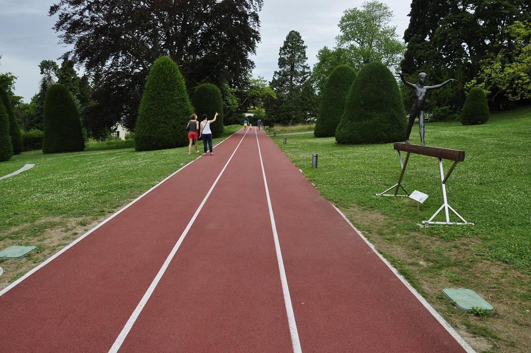 Pista d'atletisme del Museu Olímpic de Lausana