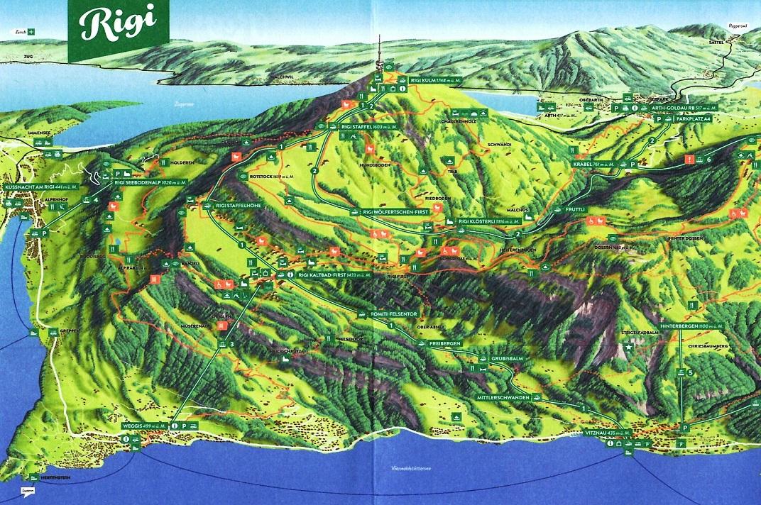 Plànol de la muntanya Rigi