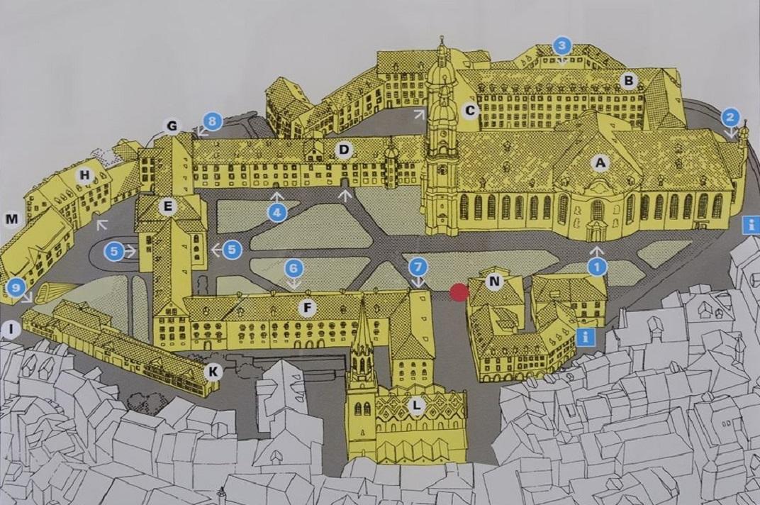 Plànol de l'abadia de Sankt Gallen