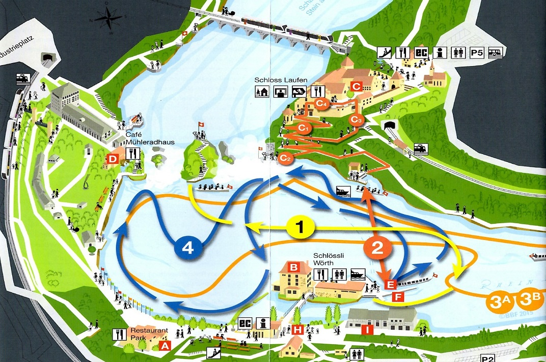 Plànol de Rheinfall