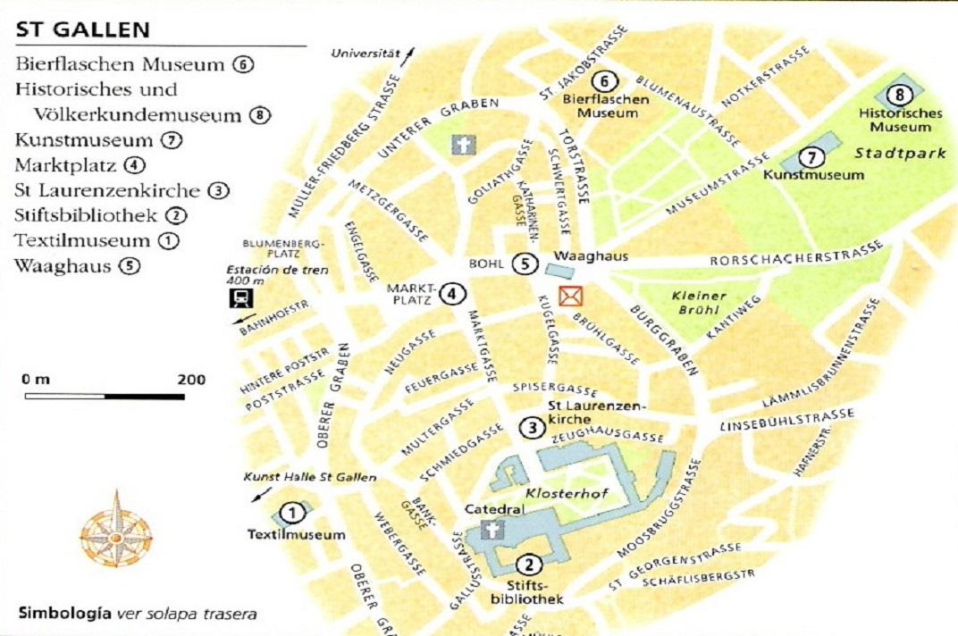 Plànol del nucli antic de Sankt Gallen