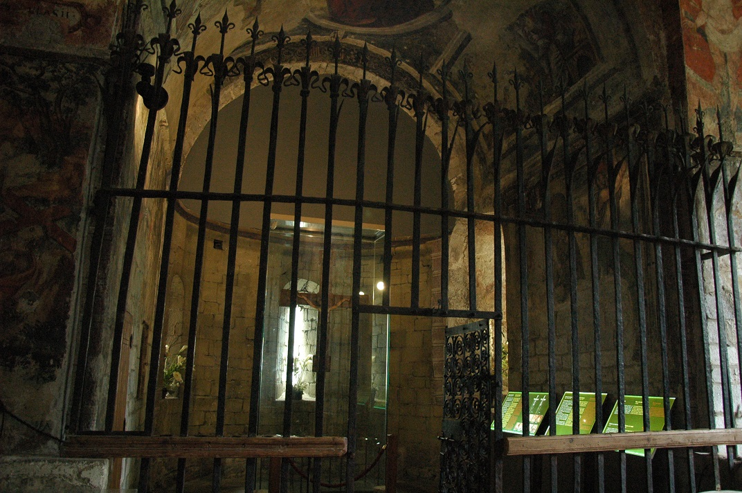 Reixa de l'absis de l'església de Sant Andreu de Salardú
