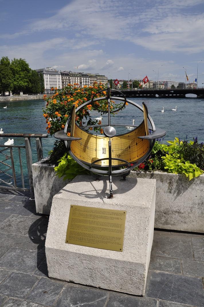 Rellotge solar del port de Ginebra