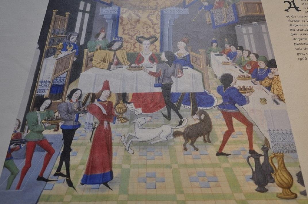 Representació de l'Aula Nova del castell de Chillon